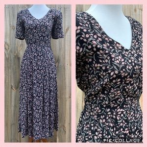 Vintage 90s Dress Ditsy Romantic Open Back Floral